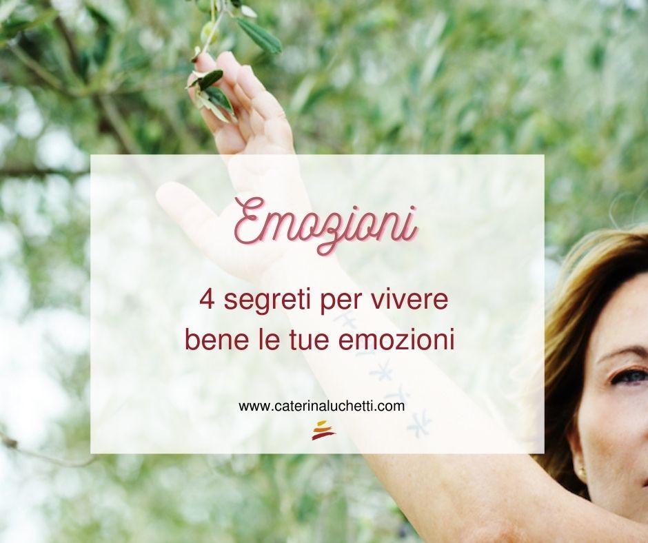 Vivere bene le emozioni Caterina Luchetti Natural Coach-