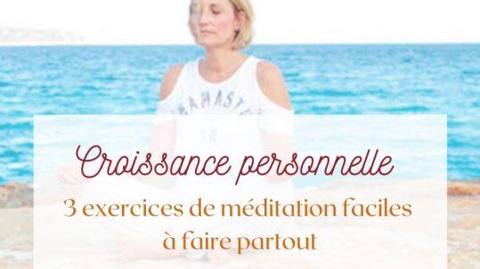 exercices de méditation faciles Caterina Luchetti Natural Coach